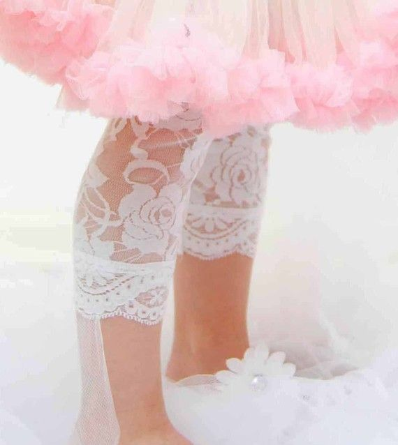 Lacy leggings...a must for Josi Kate!: Princess, Girly Things, White, Lace Leggings, Pink, Baby, Kids, Pretty