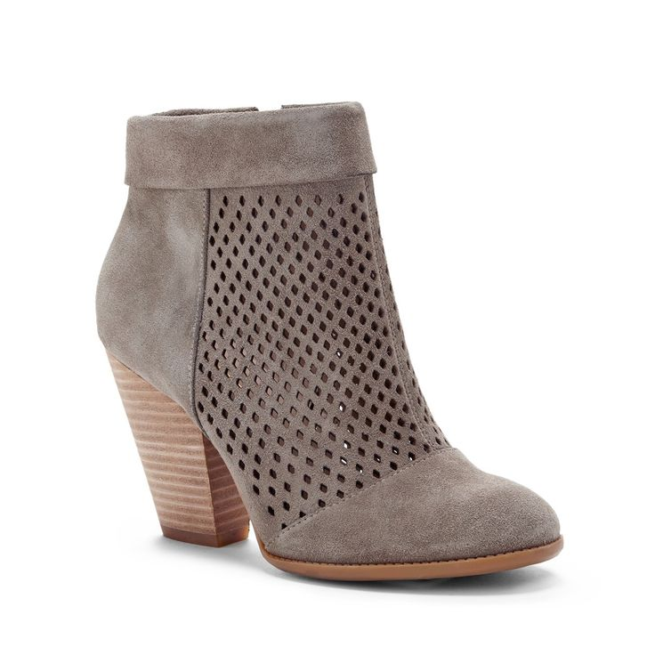 Sole Society - Sidney Perforated Suede Ankle Bootie {in Fennel}