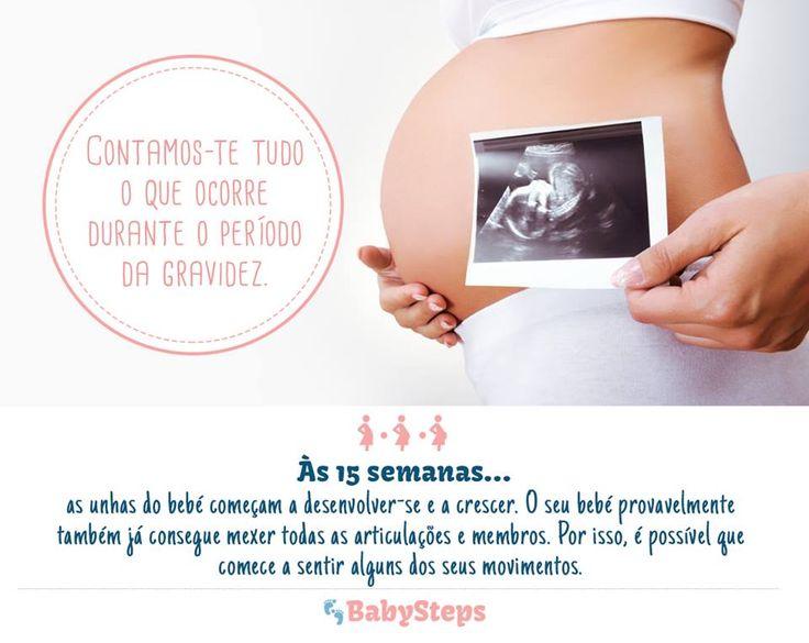 #Às_15_Semanas #babysteps #infográficos #bebés #gravidez #grávida #conselhos #dúvidas