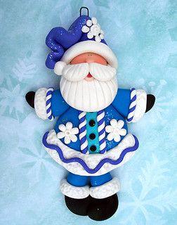 Santa claus en arcilla polimerica *POLYMER CLAY ~ by claycuties