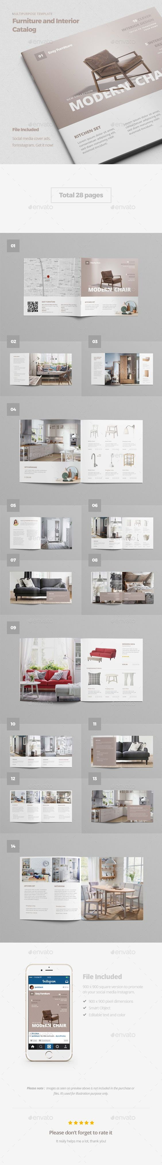 Furniture and Interior Catalog Brochure Template PSD  design Download   http   graphicriver. 25  beautiful Furniture catalog ideas on Pinterest   Product