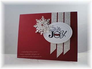 A piece of delish sparkly Stampin' Up! card-making from Deb Currier...