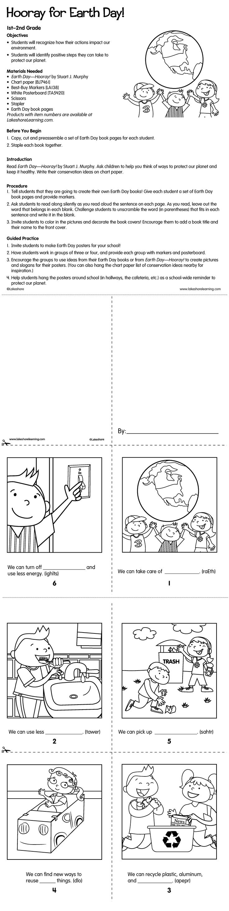 260 best learning holidays earth day images on pinterest in this lesson plan students create their own earth day books and postersand robcynllc Images