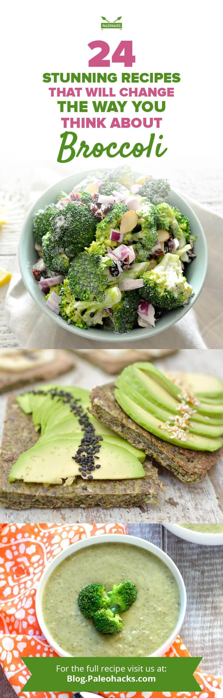 From brilliant broccoli recipes packed with simplicity, to perfect pairings with sweet potatoes, to scrumptious salads, it seems there's nothing broccoli can't achieve. Get all recipes here: http://paleo.co/broccolircp