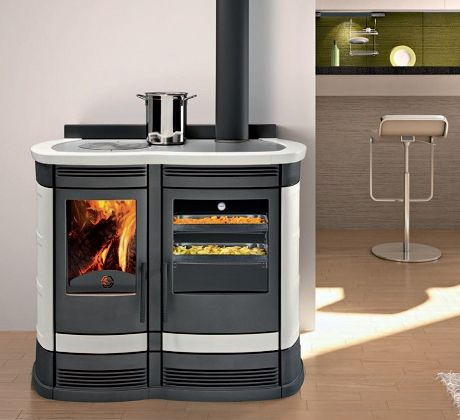 contemporary wood cookstoves | ... wood-burning cooker in modern interpretation, representing a