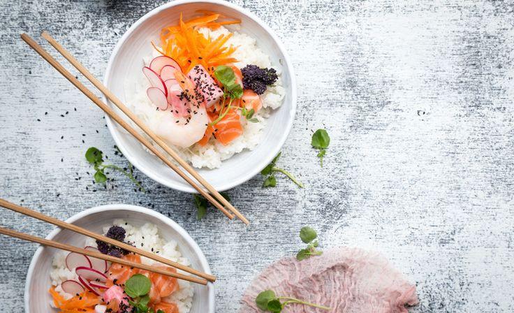Laiskan kokin ratkaisu sushinhimoon: Raikas sushi bowl | m.iltalehti.fi