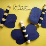 Clothespin Bumble Bees Craft