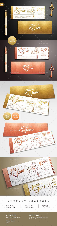 best ideas about ticket template my pics elegant gold wedding invitation ticket