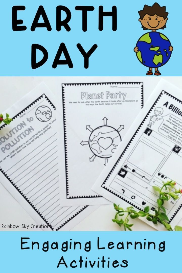Use these teaching resources in your elementary classroom for ideas to teach your students about recycling, sustainability and caring for our Earth and environment. These Earth day activities for kids include creative writing prompts, literacy and math ideas. Printables (worksheets) also complement social studies or environmental science units {third, fourth, fifth, sixth, 3rd, 4th, 5th, 6th, homeschool}