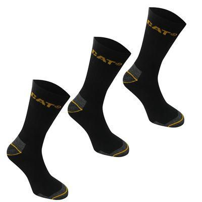 Caterpilla | CAT Work Sock 3 Pack Mens | Mens Socks