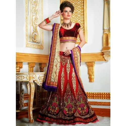 New Bridal Lehanga choli Latest Fashion Diwali Gifts 309 - Online Shopping for Lehnga by SAREEZ HOUSE