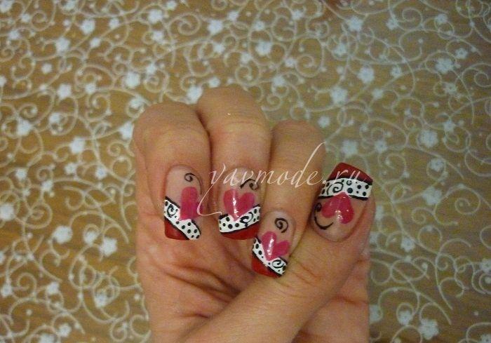 Дизайн ногтей. Мастер-класс: как нарисовать сердечки на ногтях?   По вопросам сотрудничества и мастер-классов: anna1156@yandex.ru  .   Автор: Творческая Анна    Дизайн ногтей, нейл-арт, необычный рисунок, креативный маникюр, нейл-арт, дизайн ногтей, ногти, ноготки, nail art, nails, nail ideas, сердечки на ногтях