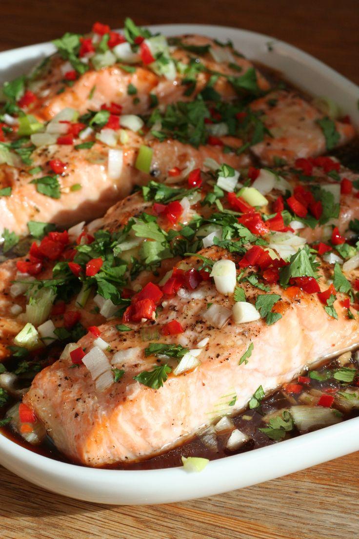 Roasted Salmon with a Cheats Vietnamese Caramel Sauce