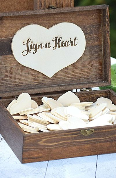 Heart Holder for Guest Book