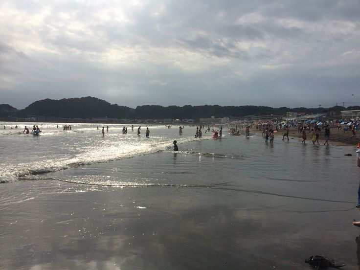 The beaches in Kamakura, Japan can get surprisingly busy!