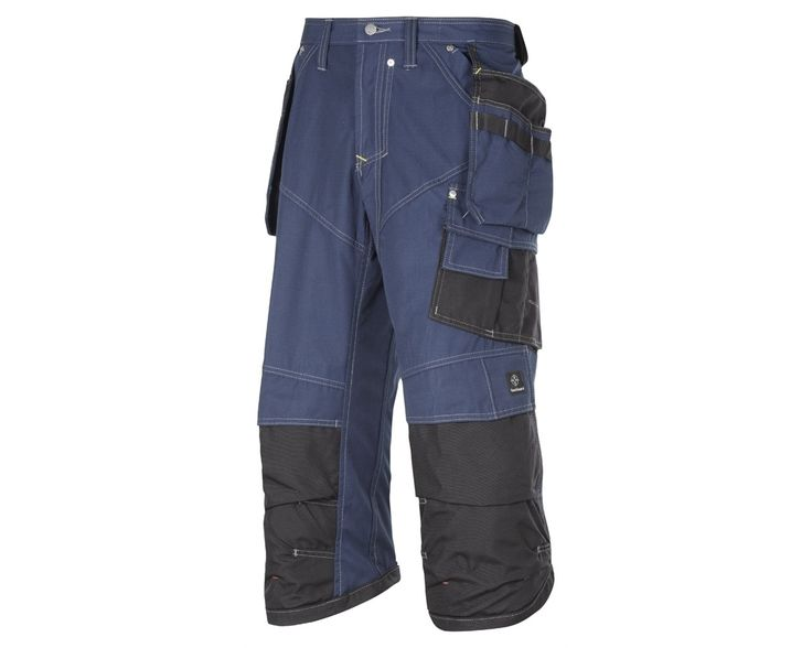 The Snickers 3923 3/4 Holster Pocket Trousers, Rip Stop are made from durable fabric,making them as hardwearing as their full length equivalent. Maximum ventilation and superb knee protection plus numerous pockets.