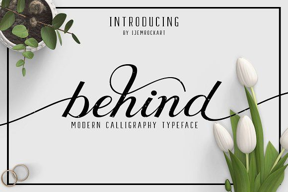 Behind Script by Ijemrockart on @creativemarket