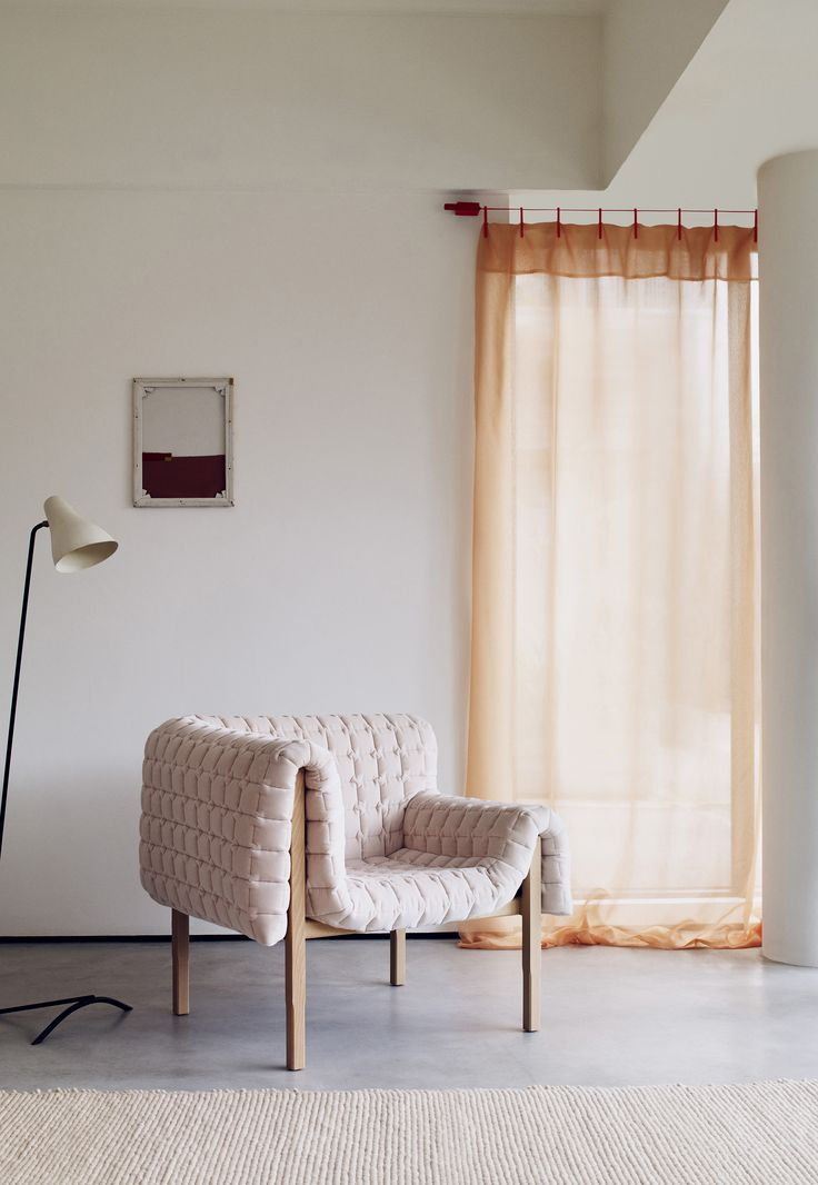 Everything apricot. The Ready Made Curtain by Ronan & Erwan Bouroullec