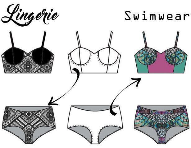 Swimwear & Lingerie Patterns Are Interchangeable! (Burda / News)