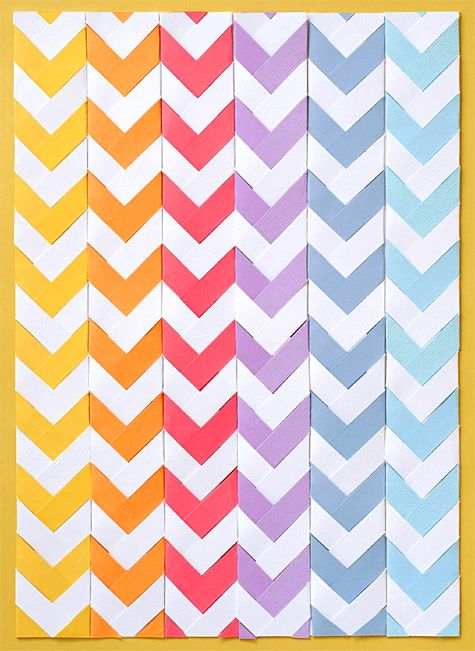 chevron paper braiding tutorial. would be so cute on a card or page layout!