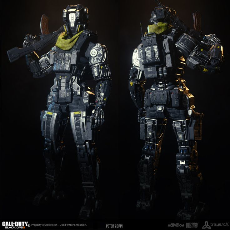 Many of the characters were a huge team effort, requiring multiple artists to work on different parts of an asset to complete them in time...made possible by the modular nature of the parts. I was responsible for the Exosuit on the 54i Enemy Faction along with doing the lower body of the Grunt Robot used in the Campaign and in Multiplayer. I did high and low poly modeling, UV layout, normal baking and texture painting. Exosuit Concept - Mayan Escalante Robot Concept - Ben Mauro