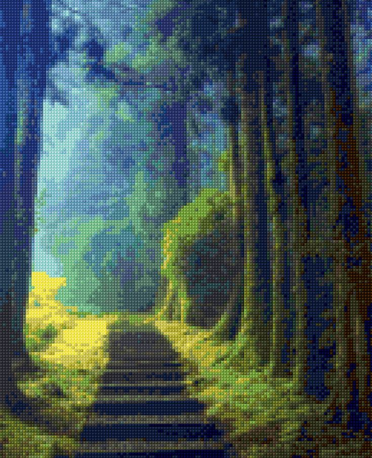 Forest Path Cross Stitch pattern PDF - Instant Download! by PenumbraCharts on Etsy