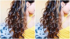 Easy HEATLESS Curls I Using DIY Hair Donut I 5 Minute NO Heat Sock Curls I Easiest Overnight Curls - YouTube