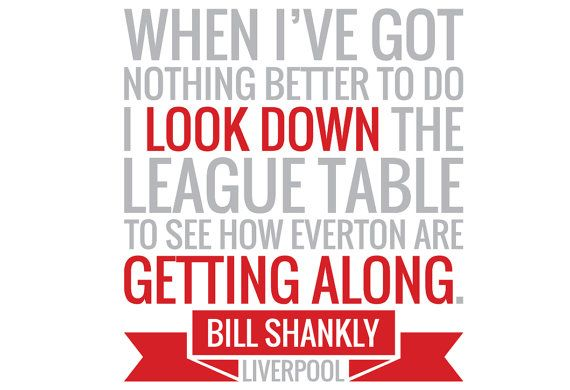 Bill Shankly Everton Quote Wall Sticker by Bandit Nanna