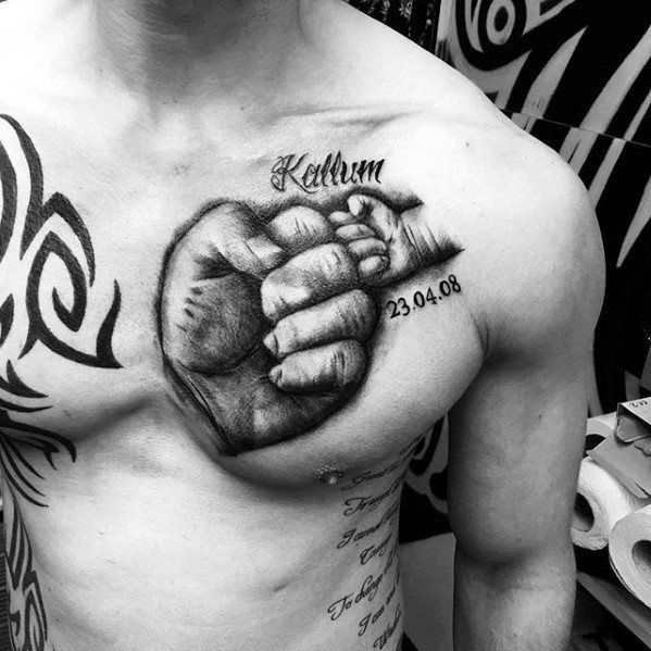 50 Kids Name Tattoos For Men – Cool Children Design Ideas