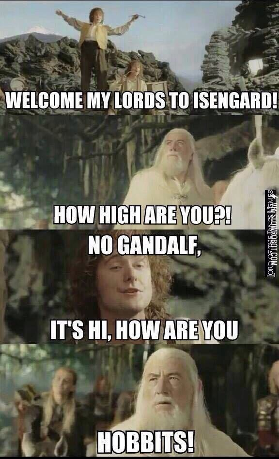 Herr Der Ringe Witze How High Are You Funny Pinterest