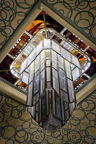 Lanterne de Jacques Simon Bibliothèque Carnegie de Reims © Carmen Moya 2012 | #ArtDeco
