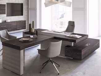 Sectional office desk with shelves JERA | Sectional office desk