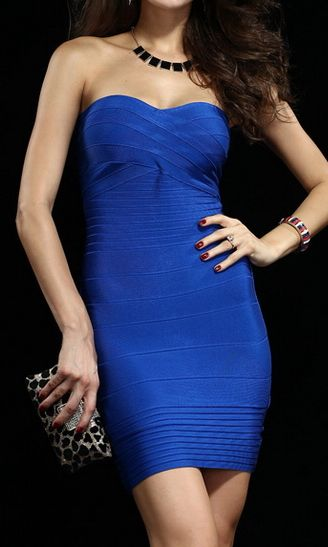 Electric Blue | Bandage Dress.  dresslily.com