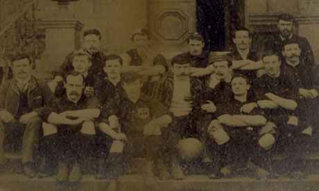 Old boys ... Members of Sheffield FC, the OLDEST football club in Britain, in 1890. Photograph: Sheffield FC