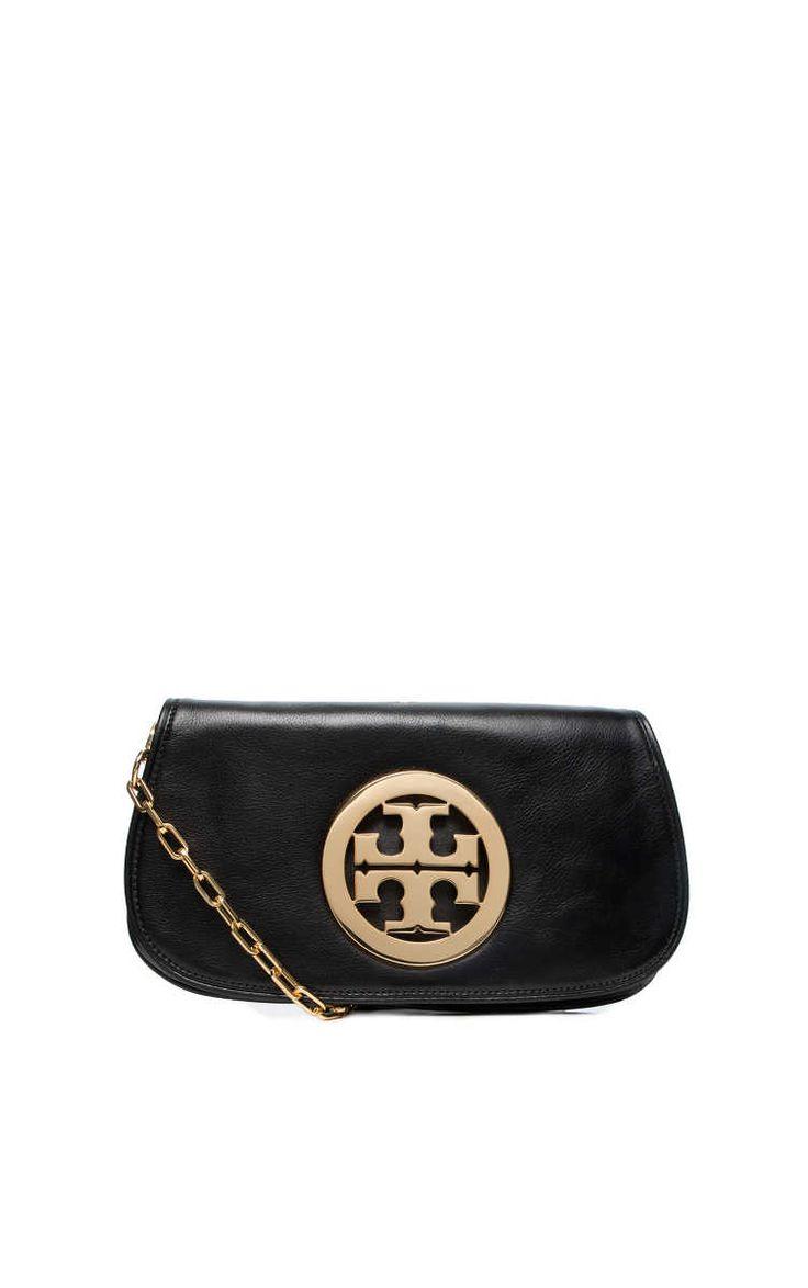 Logo Clutch BLACK/GOLD - Tory Burch - Designers - Raglady