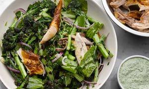 Chicken and sorrel salad