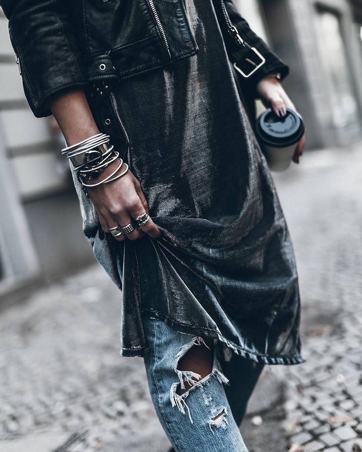 Herat stack of Silver Bracelets  Boho Jewelry