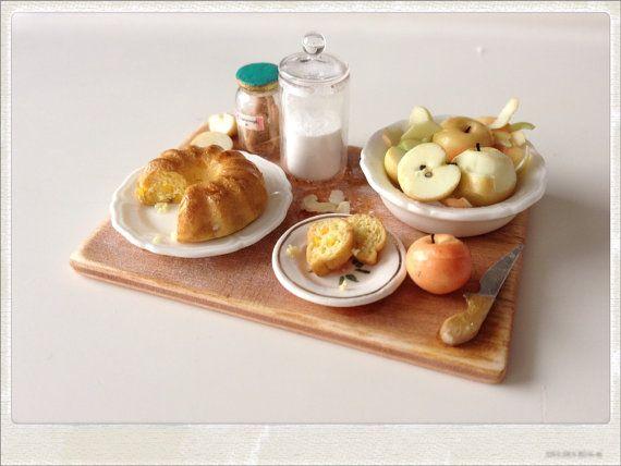 Cinnamon Apple Cake Preparation Board  by 2smartminiatures on Etsy, €55.00