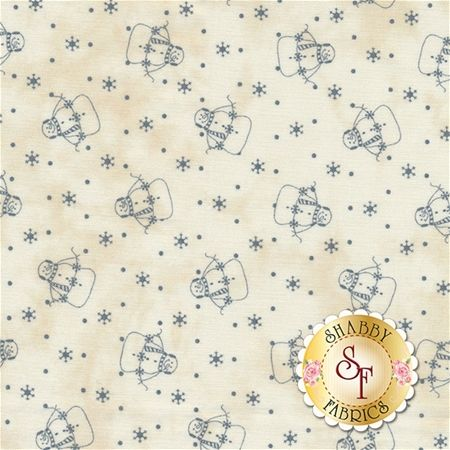 Snowman Gatherings III 1210-14 Tallow Blue by Primitive Gatherings for Moda Fabrics: Snowman Gatherings III is a winter collection by Primitive Gatherings for Moda Fabrics.Width: 43