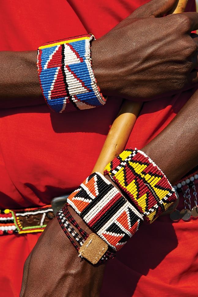 beaded masai bracelets: so cool!