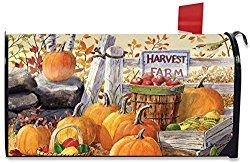 Harvest Farm Fall Magnetic Mailbox Cover Pumpkins Apples Standard Briarwood Lane