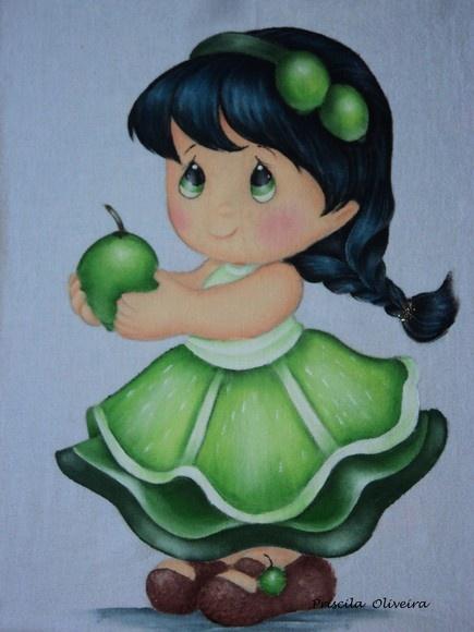 "Pano de prato ""menininhas"""