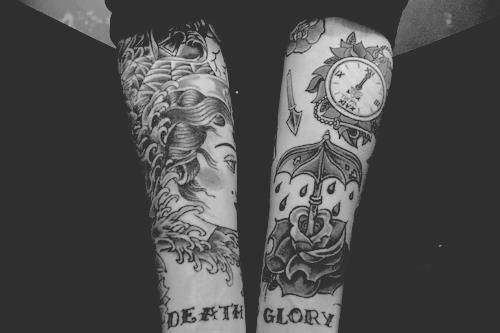 old school arm tattoo 500 333 letters and tattoos pinterest. Black Bedroom Furniture Sets. Home Design Ideas