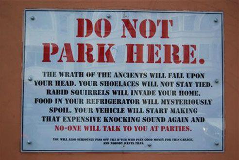 12 Funny Warning Signs | Reader's Digest
