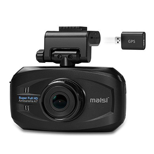 From 56.98 Maisi M20 In-car 1296p Hd Video And Gps Recorder Dashcam Resolution Increased By 50% Compared With 1080p Smart Collision Detection And Emergency Recording 1 Pack-black