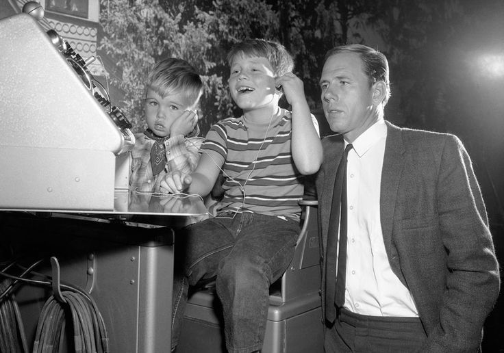 """RonHoward, who played Opie on """"The Andy Griffith Show,"""" is joined by his real-life father Rance Howard and little brother Clint in an episode of the show, marking the first time that all three Howards had worked in a TV show together, in 1963. (AP Photo)"""