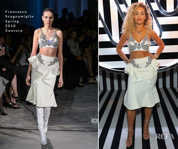 Rita Ora In Francesco Scognamiglio Couture – Warner Music Group
