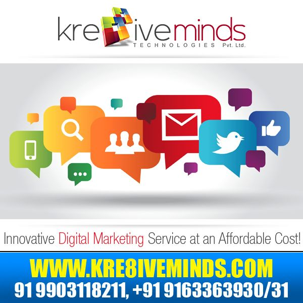 Boost your online business prospects with our innovative #DigitalMarketing service! http://www.kre8iveminds.com/
