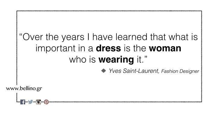 Καλή εβδομάδα με αυτοπεποίθηση, γιατί αυτό σας κάνει να λάμπετε! http://bellino.gr/ #yves_saint_laurent #fashion_quotes #Bellino #bellino_fashion #bellinostyle #FreeShipping