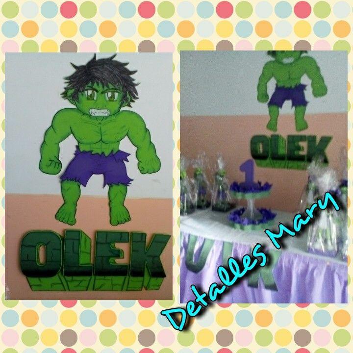 Nombre en foami, de hulk